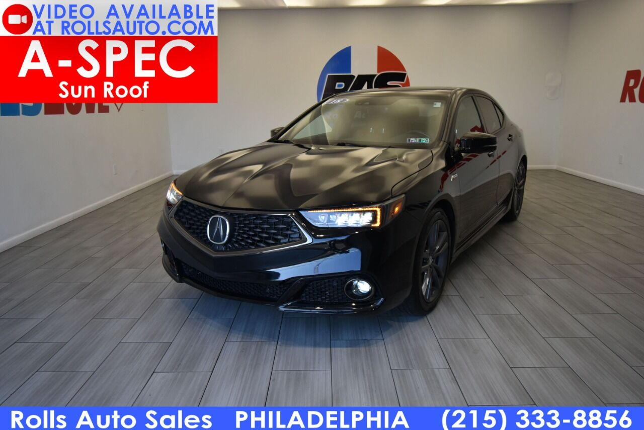Used 2018 Acura Tlx Sh Awd V6 W Tech W A Spec 4dr Sedan W Technology And A Package Red Interior Stock Nbsp 12183w Black Mileage 58 724 For Sale